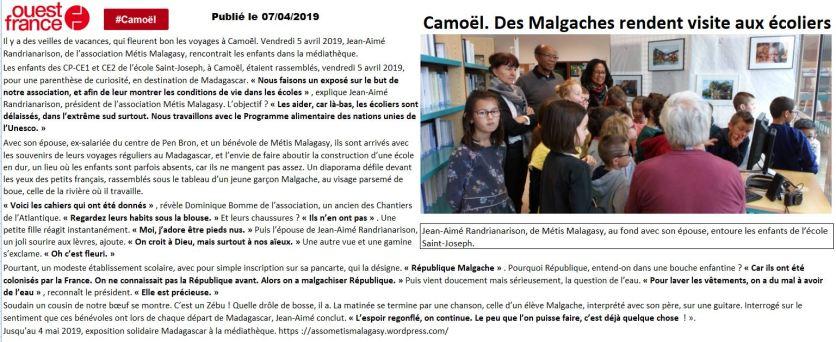 Ouest-France du 2019-04-07